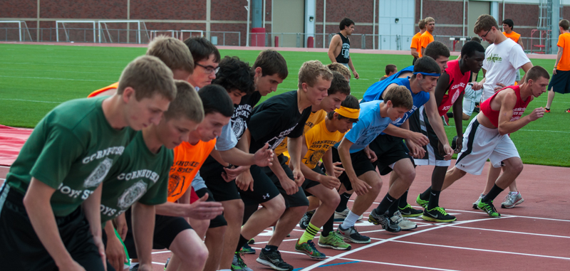 Delegates Take Competitive Spirit to the Track