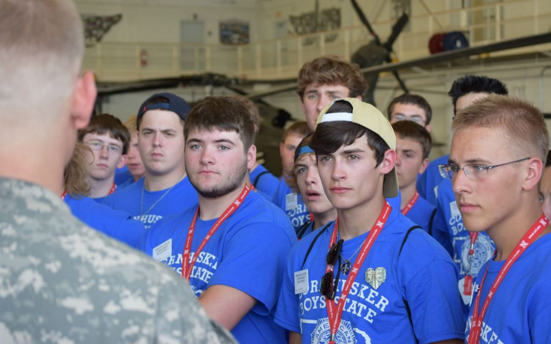 Boys State Visits the National Guard