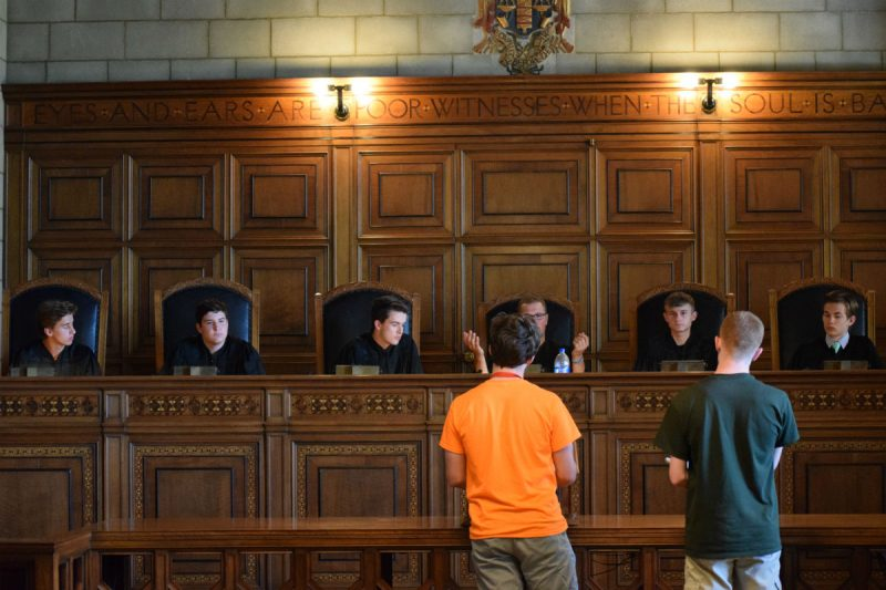 Boys' State Court in Session