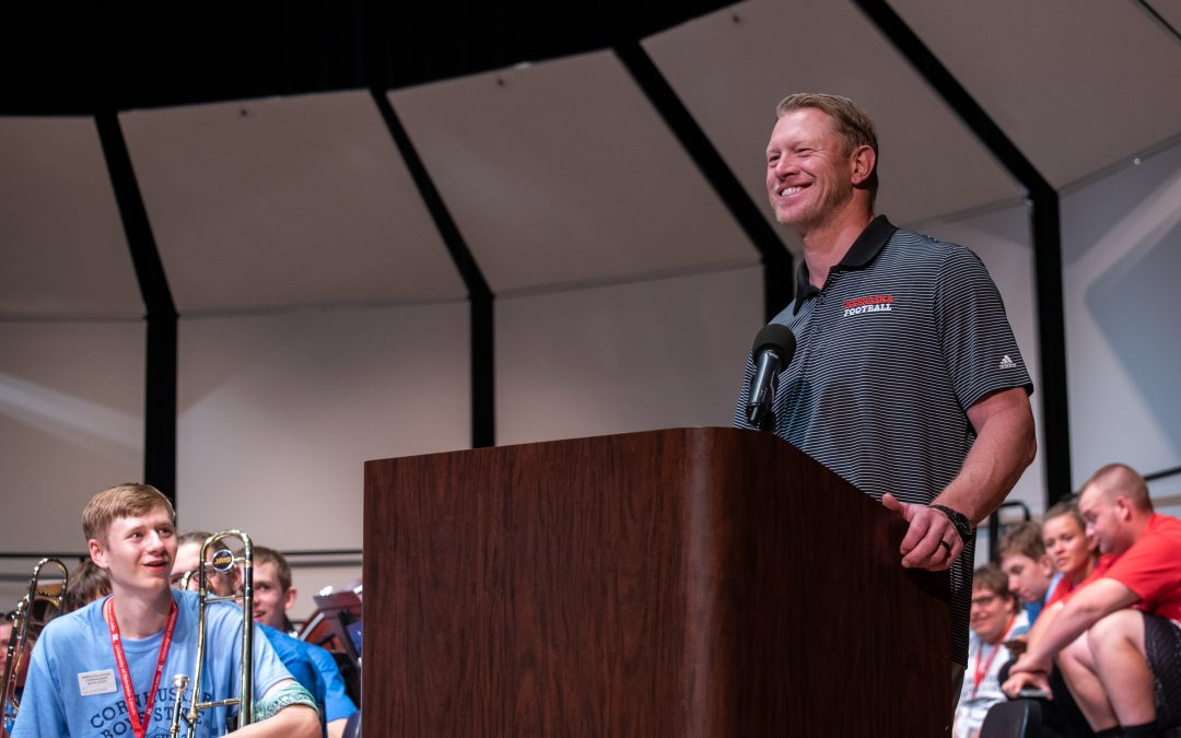 Husker Coaches Visit Boys & Girls State
