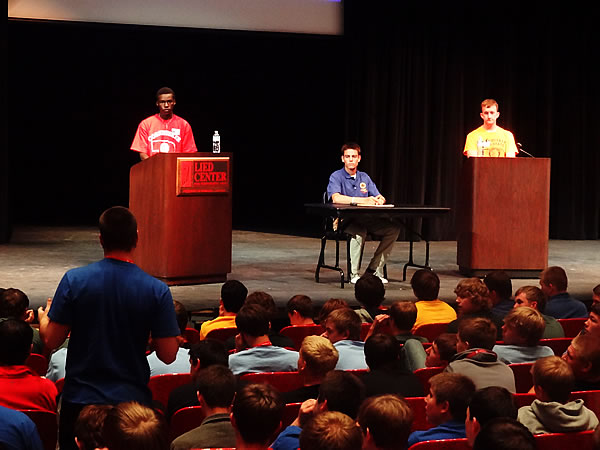 Gubernatorial Candidates Debate in Kimball Hall