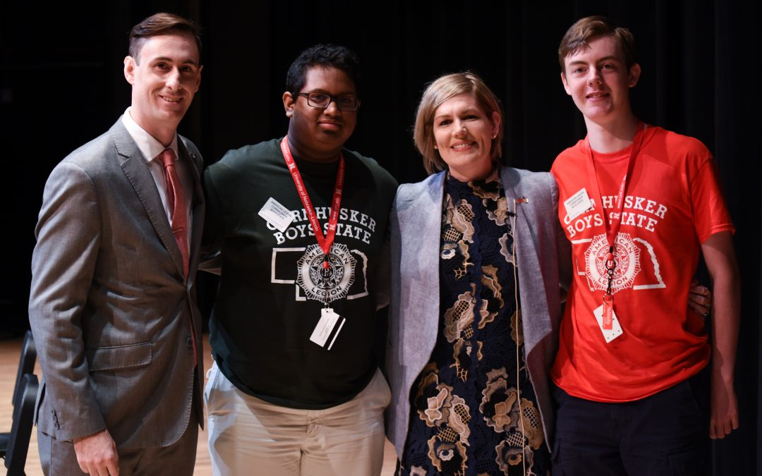 Party Leaders Visit Boys State